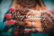 Photo of Ring ceremony invitation video editing by kinemaster | Engagement Invitation Video background